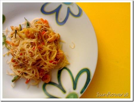 Spaghettini di riso saltati