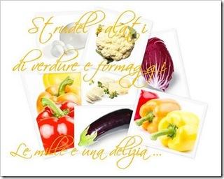 Strudel salati di verdure e formaggi petite