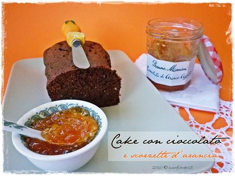 Plumcake con cioccolato e scorzette d'arancia