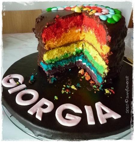Torta rainbow 1