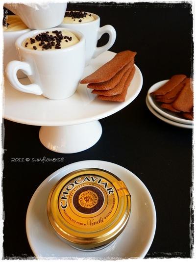 Crema diplomatica al caffe' con cialdine al cacao