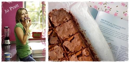 Brownies al cioccolato con amarene e noci, ricetta brownies al cioccolato con amarene e noci, chocolate brownies recipe with walnut and sour cherries