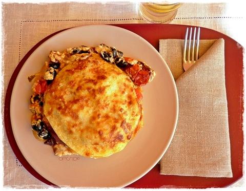 Lasagne con cipolla arrosto al balsamico e ciliegini