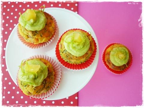 Cupcakes pancetta ananas ed erba cipollina