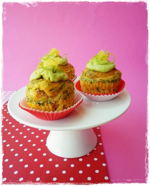 Cupcakes pancetta, ananas ed erba cipollina