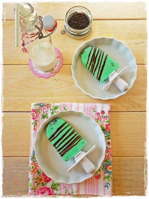 Ghiaccioli latte menta e cioccolato