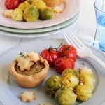 Tortine stellari ai porri e fagioli dell'occhio - Stellar pies with leeks and beans