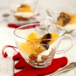 Verrine con arance e cioccolato e biscotti alla cannella - Verrines with orange and cinnamon caramelized biscuits