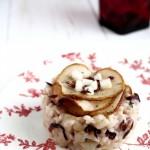 Risotto con pere, robiola e radicchio - Risotto with pears and radicchio