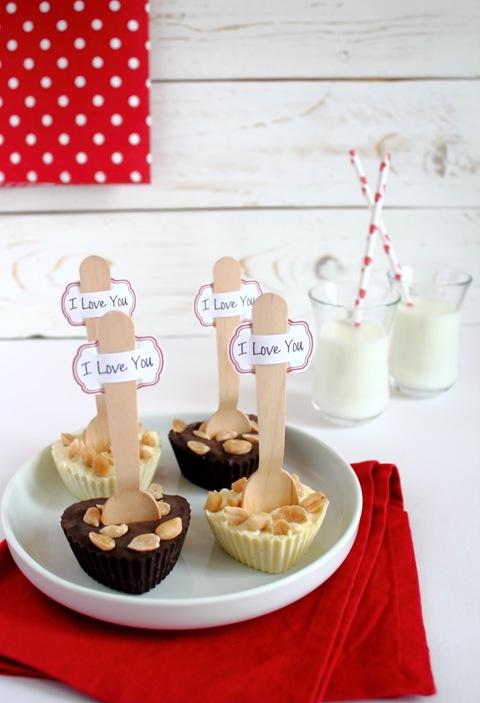 cuori al cioccolato e arachidi tostate e salate_ricette San Valentino