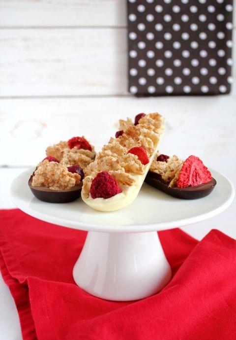 Barrette cioccolato e frutti rossi