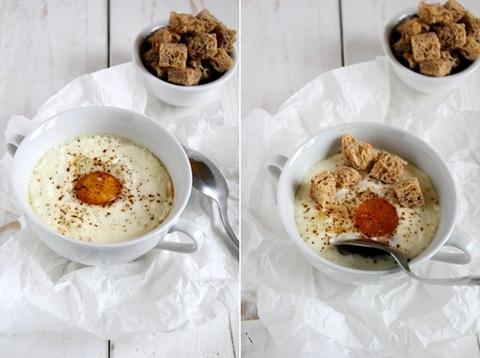 uova e castagne in cocotte