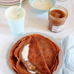 Crepes con farina di castagne e cacao alla crema di marroni - Crepes with chestnut flour and cocoa