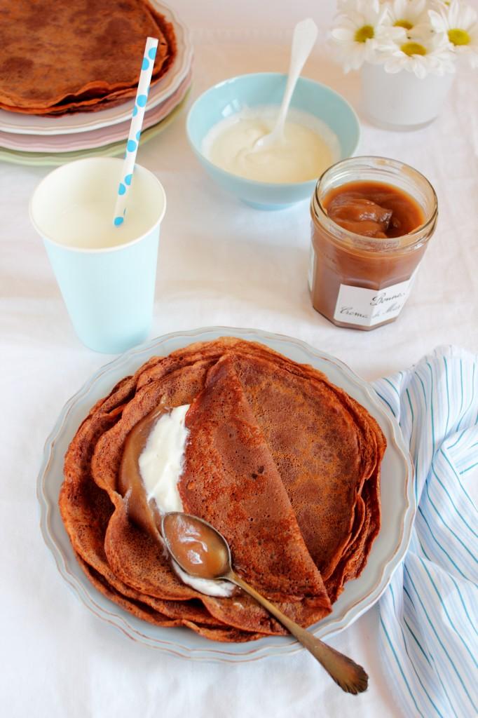 crepe con farina di castagne e cacao alla crema di marroni