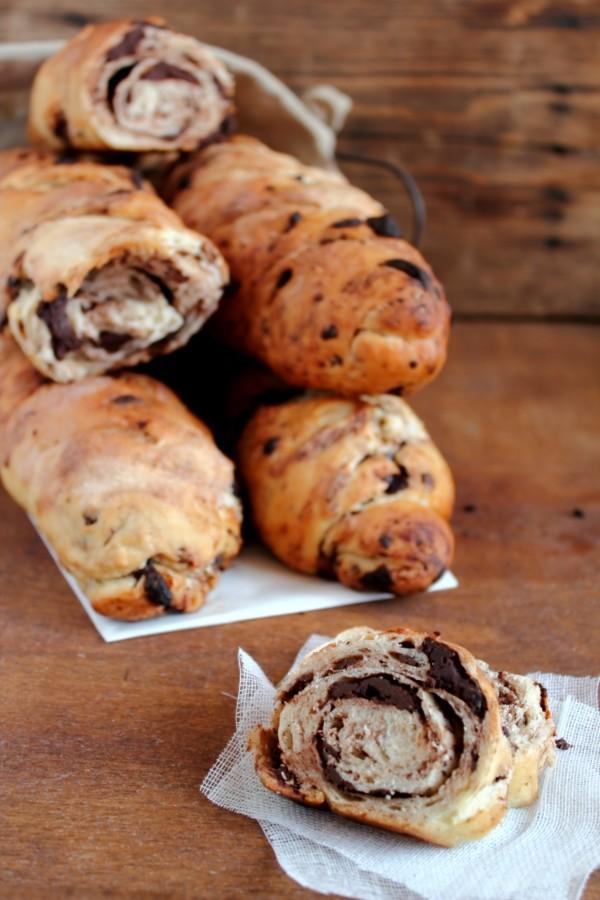 Filoncini al cioccolato - Baguette al cioccolato - Chocolate bread recipe