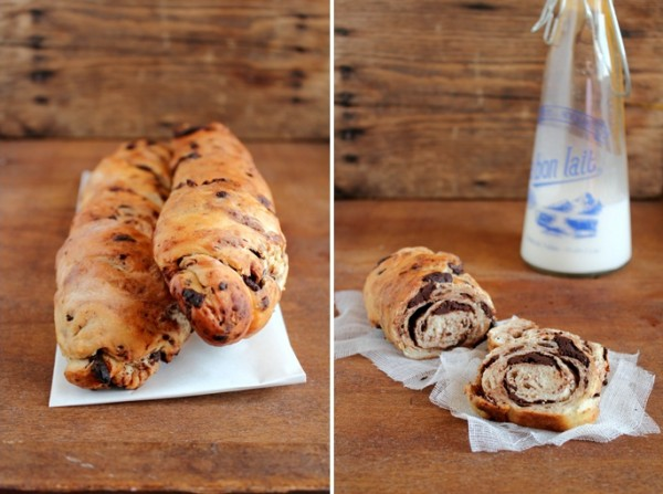 Filoncini al cioccolato - Baguette al cioccolato - Chocolate bread recipe