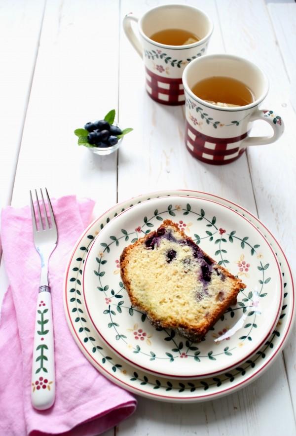 Plumcake ai mirtilli, ricetta plumcake ai mirtilli con sciroppo alla menta, blueberry loaf cake recipe