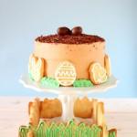torta al caffè - torta di pasqua - layer easter cake - coffee cake - layer coffee cake