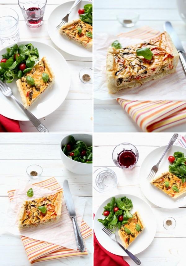 Torta salata pomodorini e spinaci