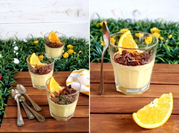 Crema all'arancia ai due cioccolati e torrone