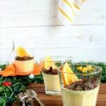 Crema all'arancia ai due cioccolati e torrone - Orange cream with two chocolate and nougat