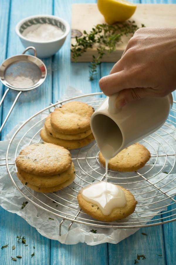 Biscotti al timo menta e limone