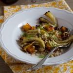 Orzo con zucca e finocchi al forno -Barley with roasted pumpkin and fennel
