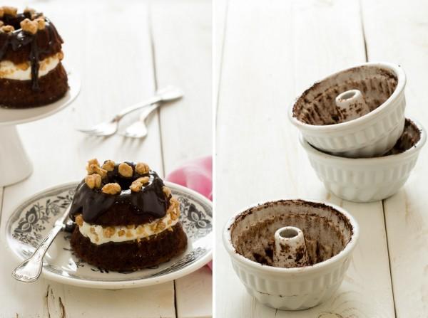 Mini torte al al cioccolato