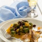 Orata all'arancia e insalata di cavoletti - Orata with orange and brussel sprouts salad