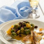 Orata all'arancia e insalata di cavoletti - Orata with orange and brussel sprouts salad