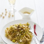 Linguine ai porri di Cervere con emulsione di Nocciole Piemonte - Linguine with Cervere leeks and sauce of Piedmont IGP hazelnuts