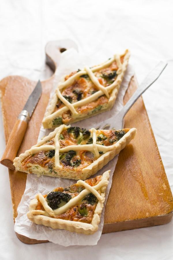 Ricetta quiche con broccoli e salmone, Smoked salmon quiche recipe