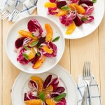 Insalata di arance e radicchio - salad with oranges and red chicory