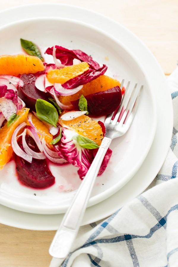 insalata di arance e radicchio