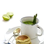 Zuppa di asparagi e blinis integrali - Asparagus soup with wholemeal flour blinis