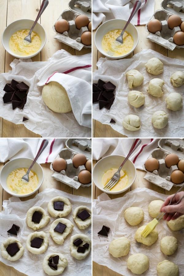 panini soffici ripieni di cioccolato, Easy Chocolate Filled Buns