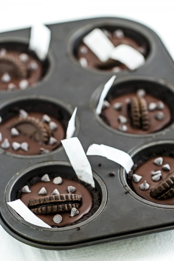 Tortine al cioccolto senza forno