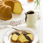 torta arancia - Oranges cake with chocolate glaze