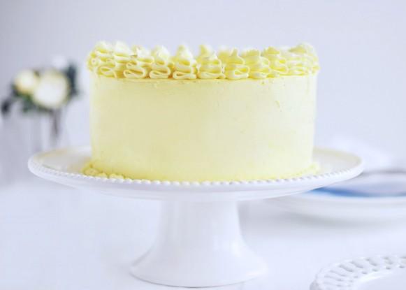 Torta al limone e mirtilli