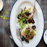 Lampuga con insalata di cetrioli e more con vinaigrette di pompelmo - Blackberry-Cucumber Salad with a Grapefruit Vinaigrette