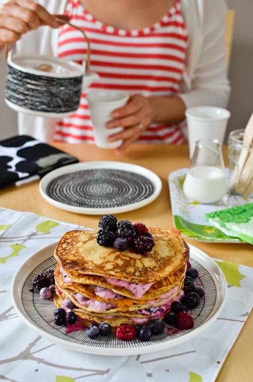 Torre pancake_Pancake e frutti di bosco
