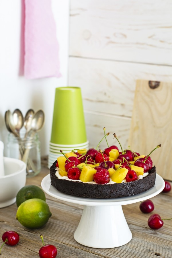 Oreo Cheesecake alla frutta senza cottura, Cheesecake senza cottura, Ricetta cheesecake alla frutta senza cottura, Come fare la cheesecake senza cottura, Easy No Bake Chocolate fruit Cheesecake, No Bake Chocolate fruit Cheesecake recipe, Oreo Cheesecake