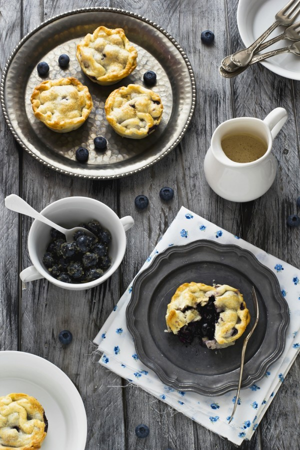 mini pie ai mirtilli - blueberry pie