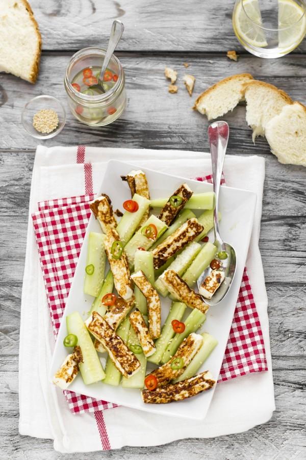 Cetrioli in insalata con primosale
