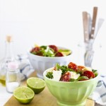 insalata con mozzarella e avocado - avocado and salami salad - sale recipe - opsd