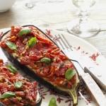 melanzane al forno - melanzane con pomodorini - melanzane ripiene - stuffed aubergines with tomatoes