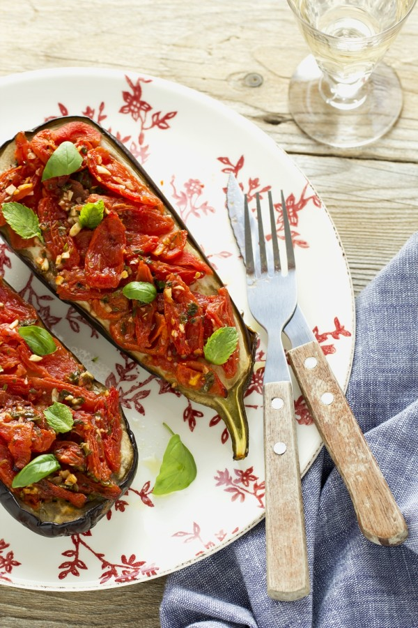 melanzane al forno - melanzane con pomodorini - melanzane ripiene