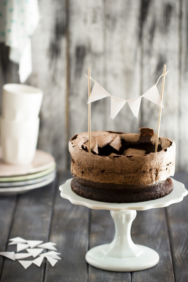 torta al cioccolato e meringa