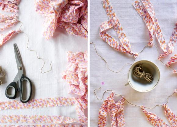 Ghirlanda in cotone - DIY