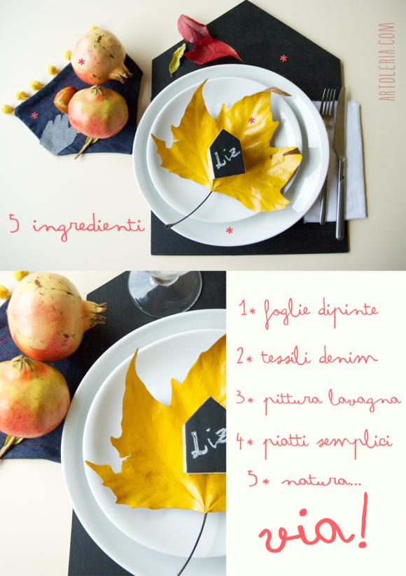 Tavola Autunno - DIY - Autumn Table decoration